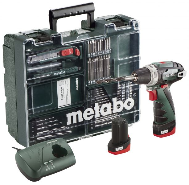 Шуруповерт Metabo PowerMaxx BS 10,8 Mobile Workshop